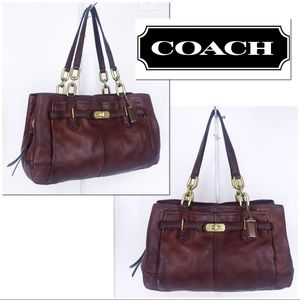 Coach Distressed Saddle Brown Jayden Satchel Bag